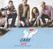 Guardia Assurance Health Concept di protezione di cura Immagini Stock