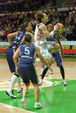 Guardia Celine Dumerc. Euroleague 2009-2010. Fotografia Stock Libera da Diritti