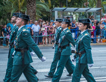 Free Guardia Civil Parade In Malaga, Spain Stock Photo - 65086410