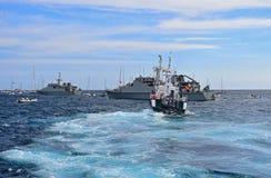 Guardia Civil And Warships Volvo Ocean Race Alicante 2017 Stock Photos