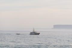 Guardia civile Pattuglia della guardia costiera in Spagna Fotografie Stock