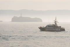 Guardia civile Pattuglia della guardia costiera in Spagna Fotografia Stock