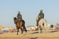 Guardia civile spagnola a cavallo Fotografia Stock