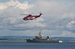 Guardia costiera e blu marino irlandesi immagine stock