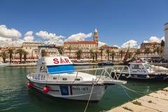 Guardia costiera spaccata della Croazia fotografia stock libera da diritti