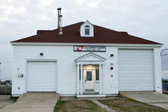 Guardia costiera Station, punto Judith, Rhode Island fotografia stock libera da diritti
