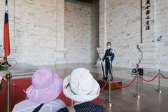 Guardia de honor en Chiang Kai-shek Memorial Hall en Taipei, Taiwán Imágenes de archivo libres de regalías