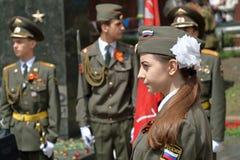 Guardia de honor en Pyatigorsk, Rusia Imagen de archivo libre de regalías