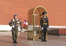 Guardia de honor moscú Fotografía de archivo libre de regalías