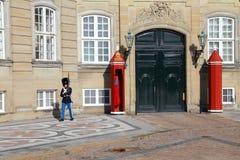 Guardia de palacio de Copenhague Foto de archivo libre de regalías