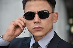 Guardia de seguridad Portrait Wearing Sunglasses fotografía de archivo