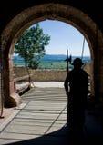 Guardia del castello di Sumeg Fotografie Stock Libere da Diritti