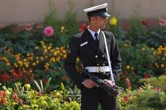 Guardia del gobierno indio Foto de archivo