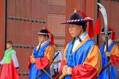 Guardia del palazzo di Deoksugung Fotografia Stock