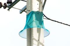 Guardia del serpente con la posta elettrica Fotografie Stock Libere da Diritti