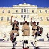 Guardia di Evzoni, guardiani Fotografie Stock Libere da Diritti