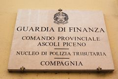Guardia di Finanza Photo stock