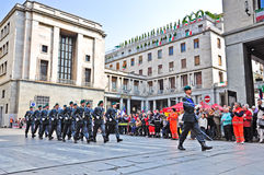 Guardia di Finanza marching in official parade Stock Photo