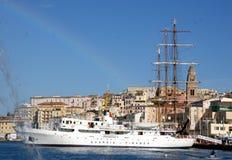 harbour - porto di Gaeta Guardia di finanza Stock Photos