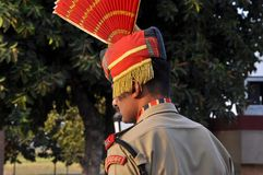 Guardia di frontiera di Wagah Immagini Stock Libere da Diritti