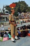 Guardia di frontiera di Wagah Fotografie Stock Libere da Diritti