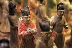 Guardia di onore dipinta dal museo di storia di Shaanxi, Xian, Cina fotografia stock