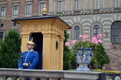 Guardia di palazzo, Royal Palace, Stoccolma Tom Wurl Fotografia Stock Libera da Diritti