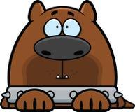 Guardia Dog di allarme del fumetto Fotografia Stock Libera da Diritti
