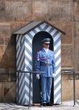 Guardia en el castillo de Praga Fotos de archivo