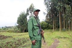 Guardia forestale di sosta alla sosta nazionale dei vulcani Immagine Stock Libera da Diritti