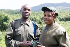 Guardia forestale di sosta alla sosta nazionale dei vulcani Fotografia Stock