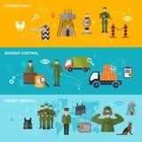 Guardia fronterizo Banner Fotografía de archivo libre de regalías