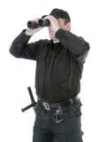 Guardia fronterizo con binocular fotografía de archivo