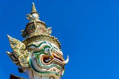 Guardia gigante Statue al pra Kaew Bangkok Tailandia di Wat Immagini Stock