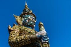 Guardia gigante Statue al pra Kaew Bangkok Tailandia di Wat Immagine Stock Libera da Diritti