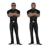 Guardia giurata dell'uomo di colore del night-club Fotografie Stock