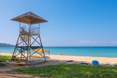 Guardia giurata sulla spiaggia Fotografia Stock Libera da Diritti