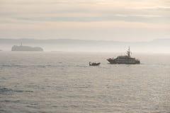 Guardia höflich Küstenwachepatrouille in Spanien Stockfotografie