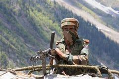 Guardia indio de la frontera Imágenes de archivo libres de regalías