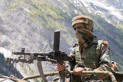 Guardia indio de la frontera Fotografía de archivo libre de regalías