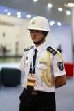 Guardia maschio in uniforme Immagini Stock
