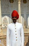 Guardia nel palazzo della città, Jaipur Fotografia Stock Libera da Diritti