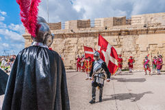 In Guardia Parade in Birgu, Malta. Stock Image