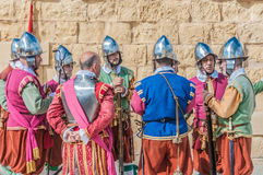 In Guardia Parade at St. Jonh's Cavalier in Birgu, Malta. Stock Images