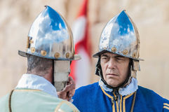 In Guardia Parade at St. Jonh's Cavalier in Birgu, Malta. Royalty Free Stock Image