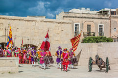 In Guardia Parade at St. Jonh's Cavalier in Birgu, Malta. Royalty Free Stock Photos