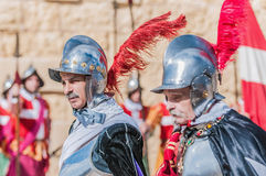 In Guardia Parade at St. Jonh's Cavalier in Birgu, Malta. Stock Photo