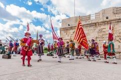 In Guardia Parade at St. Jonh's Cavalier in Birgu, Malta. Stock Image
