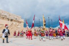 In Guardia Parade at St. Jonh's Cavalier in Birgu, Malta. Stock Photography