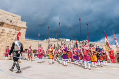 In Guardia Parade at St. Jonh's Cavalier in Birgu, Malta. Royalty Free Stock Images